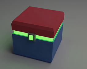 3D model Sci-Fi Container Green