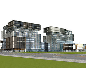 Office Building 3D block detail