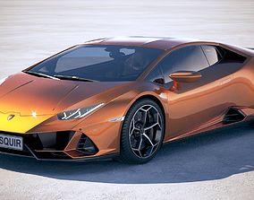 3D Lamborghini Huracan Evo 2019