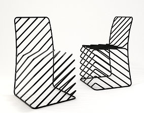 Thin Black Lines Chair 3D