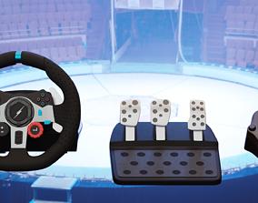 3D asset Racing Wheel