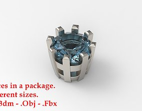 Jewelry Prong Head Set Package 116 3D print model