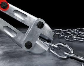 Bolt cutter rebar cutter - scissors pliers 3D asset