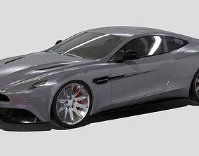 Aston Martin Vanquish Sport Car 3D Model VR / AR ready