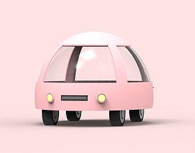 Cartoon car 3D asset game-ready