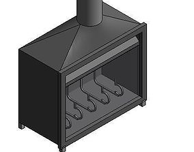 3D loose standing fire place 1