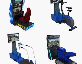 3D model Collection of Arcade Simulator Amusement