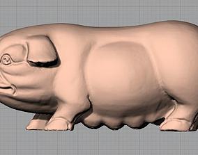 3D Animal Sculpture Model Sow A098