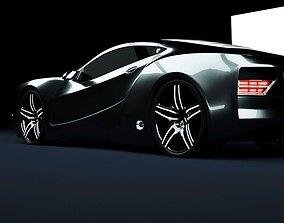 3D asset Affekta Cyclonic Sport Concept sport car