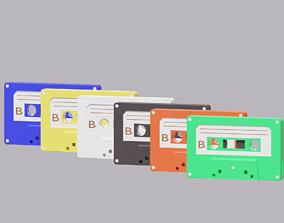 Cartoon Cassette Audio Tape 3D model