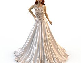 Wedding Evening dress Zuhair Murad 3 3D model