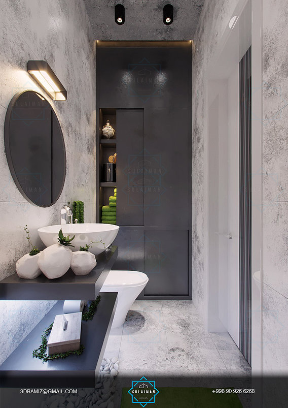 Contemporary Loft bathroom design