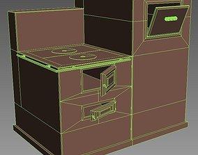 3D asset low-poly furnace