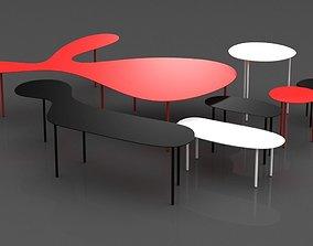 3D table Rabbit e Tortoise Collection by Living Divani