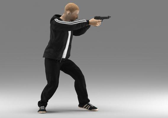 sportman gun ready to shoot