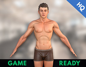 3D asset Man Stylized Body Male Game Ready Character PBR