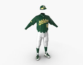 Baseball Player Outfit Athletics 3D model