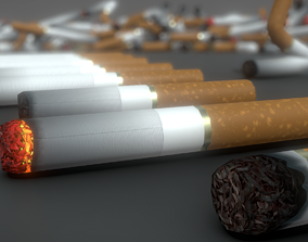Low-Poly Cigarette Package 3D model