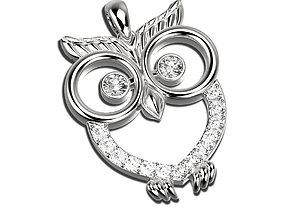 jewellery 3D printable model Owl pendant