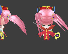 Cartoon Chibi Nurse 3D model