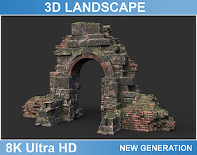 3D model Low poly Ruin Medieval Construction 08 2020