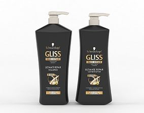 GLISS Hair Repair Ultimate Repair Set Shampoo and 3D