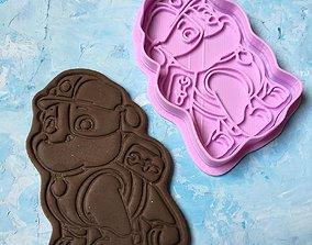 Paw Patrol Cookie Cutter Details Rubble 3D print model