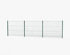 Mesh Panel Fence 3D