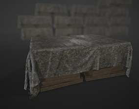 Covered army crates - 4K PBR Ready 3D asset