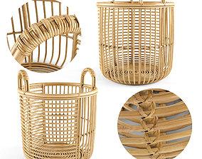 Java Rattan Baskets Medium 3D