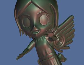 Flying Chibi-angel 3D print model
