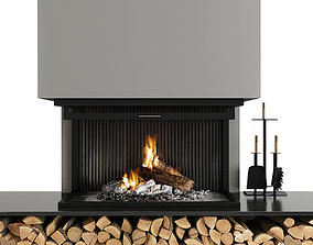 Fireplace and Firewood 3D