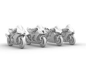 Superbike 2020 Kawasaki Yamaha Ducati Aprilia READY TO 3D