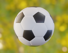 A soccer ball sports 3D model