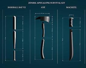 Zombie Apocalypse Survival Kit Melee 3D print model