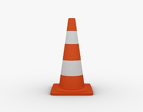 safety 3D asset game-ready Traffic Cone