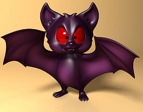 Cartoon Bat RIGGED and Animated 3D model