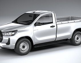 3D model Toyota Hilux Regular Cab 2021