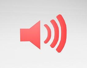 IOS Speaker Symbol v1 003 3D asset
