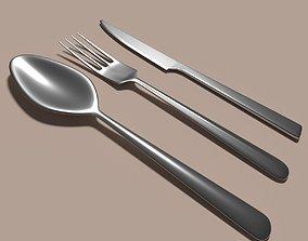 3D asset Knife fork spoon set