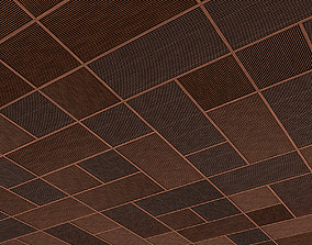3D asset realtime Wood Ceiling and Wall Panel