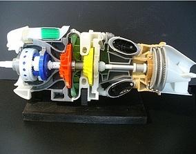 3D print model Turboprop engine parts turboprop