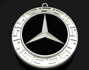 3D print model Mercedes Benz Style Golden Necklace