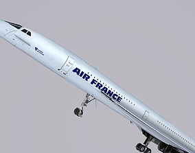 3D Concorde AirFrance commercial