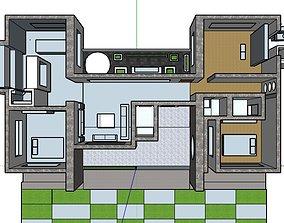 3D printable model modern house