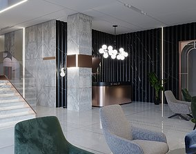 3D Modern lobby Boutique Hotel