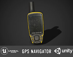 GPS Navigator 3D asset low-poly