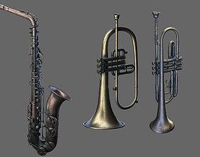 Wind Instruments 3 saxophone three wind 3D model
