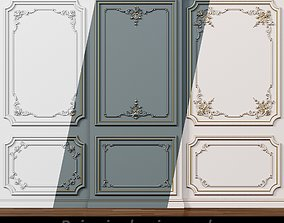 Wall molding 5 Boiserie classic panels 3D asset