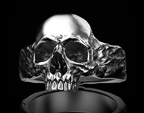 3D print model sculpt skull ring